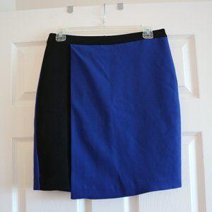 SALE! 🔥 NWOT 🛍 Asymmetrical Blue & Black Skirt